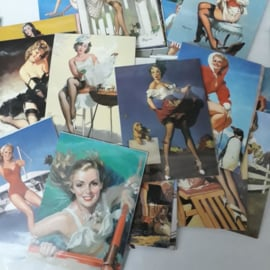 Dames Vintage stickers 7.5 x 5.5 cm mix