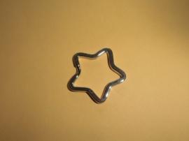 Sleutelring stervormig-Nikkel