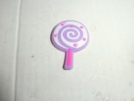Cabochon, kunststof, lollie roze-lila