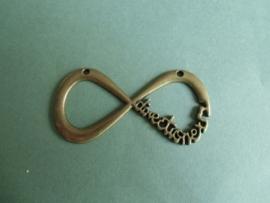 Infinity teken met tekst- Bronskleur