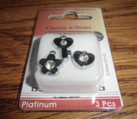 Charms w/ Strass-  Flower, Key and Hart