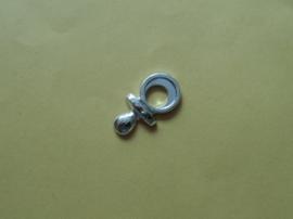 Speentje plat, zilver kleurig
