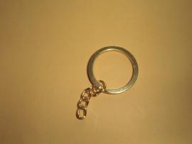 Sleutelhanger met ketting, goudkleur