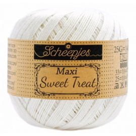 Scheepjes Maxi Sweat Treat 25 gr. Bridal White nummer 105