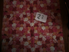 Servet 22- veel rozen