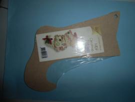 MDF kerstlaars, 15 x 20 cm