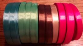 Satijnlint 10 mm in KERSTkleuren prijs is per meter