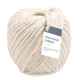 Macrame Cotton cord Bol van 50 meter zacht getwijnd 100% katoen garen