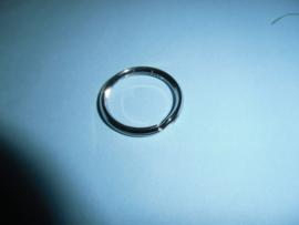 Sleutelring, metaal 28 mm, nikkelkleur
