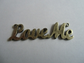 Love me, bronskleurig 15 x 51 mm