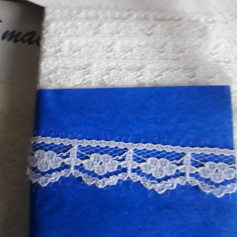Nylon kant 15 mm ecru kleur 089