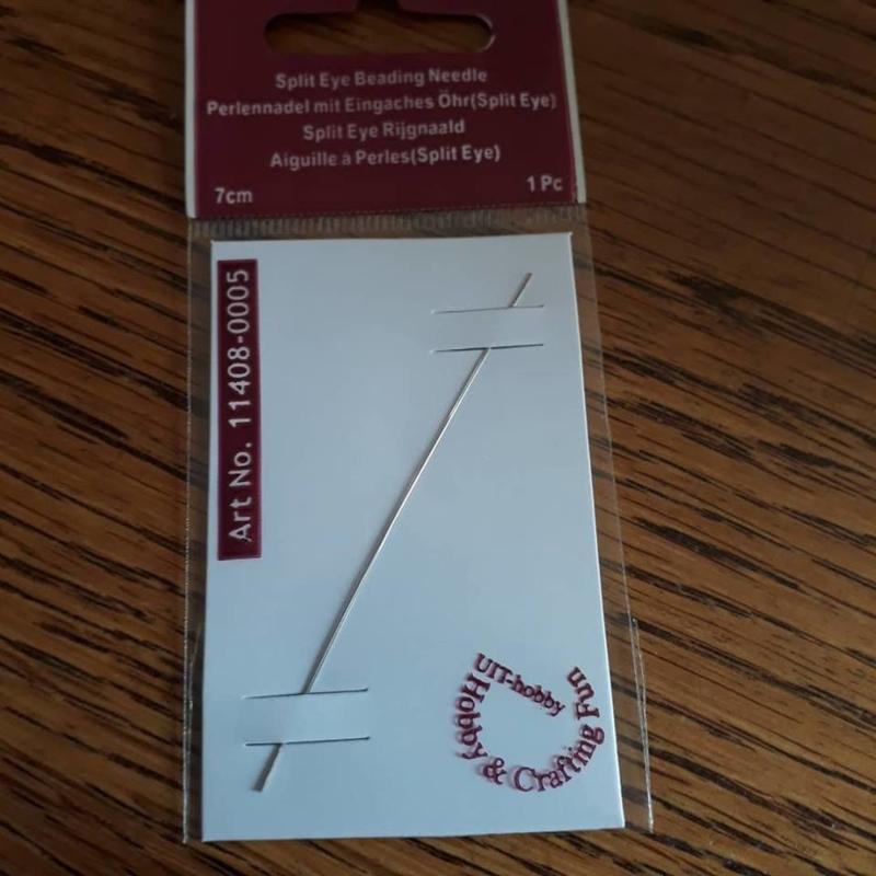 Fun Split-eye needle 7 cm platinum