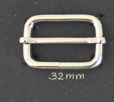 Schuif Gesp 32 mm Nikkel
