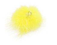pluizenbollen, pompons 30 mm geel