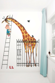 KEK Amsterdam fotobehang kinderen Reuze giraf
