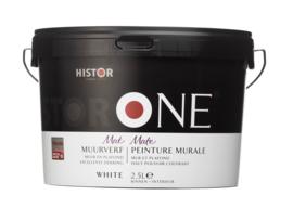 HistorONE muur- en plafondverf WIT 2,5 liter