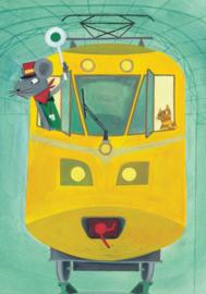 KEK Amsterdam fotobehang kinderen Kleine treinmachinist