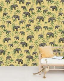 Creative Lab Amsterdam mural Oscar the Elephant yellow
