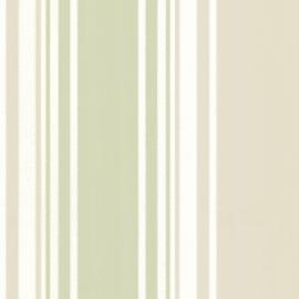 Little Greene behang Tented Stripe - Eau de Nil