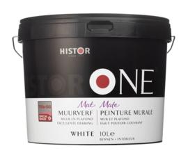 HistorONE muur- en plafondverf WIT 10 liter