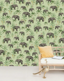 Creative Lab Amsterdam mural Oscar the Elephant green