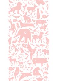 KEK Amsterdam kinderbehang Dieren ABC roze