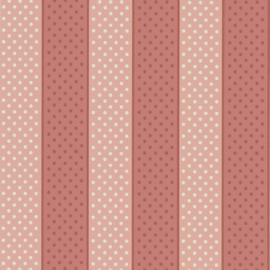 Little Greene behang Paint Spot - Strawberry Cream