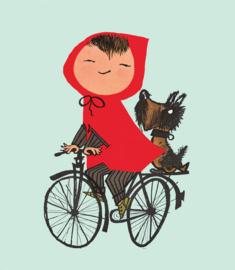 KEK Amsterdam fotobehang kinderen Op de fiets groen