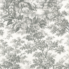 Little Greene behang Stag Toile - Moss