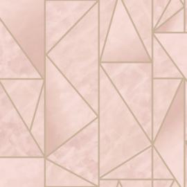 Dutch Wallcoverings Utopia behang Charon Pink 91144