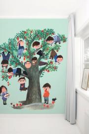 KEK Amsterdam fotobehang kinderen Appelboom groen