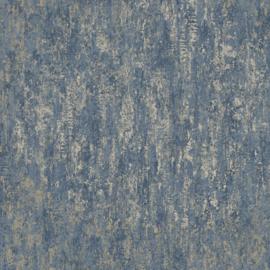 Dutch Wallcoverings Utopia behang Distressed Metallic Navy 91212