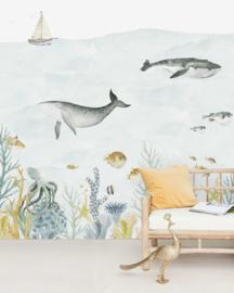 Creative Lab Amsterdam mural Sealife Blue