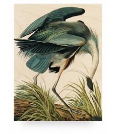 KEK Amsterdam Prints op Hout Heron in Gras S