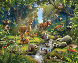 Walltastic 43060 Animals of the Forest