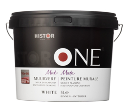 HistorONE muur- en plafondverf WIT 5 liter