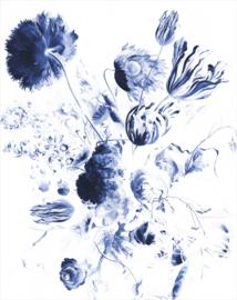 KEK Amsterdam Royal Blue Flowers Wallpaper Panel PA-042
