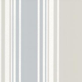 Little Greene behang Tented Stripe - Rubine Ash