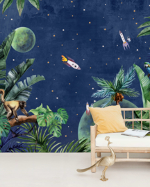 Creative Lab Amsterdam mural From Jungle to Space