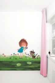 KEK Amsterdam fotobehang kinderen Bloemen plukken