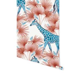 Creative Lab Amsterdam behang Blue Giraffe