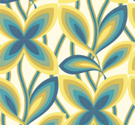 Little Greene Starflower - Peacock