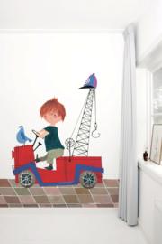KEK Amsterdam fotobehang kinderen Rode takelwagen