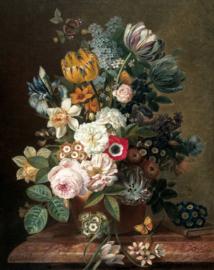 KEK Amsterdam Golden Age Flowers Wallpaper Panel PA-036