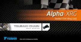 ketting Tsubaki  - 530 Alpha XRG - (112 schakels)tx4 gold >160pk