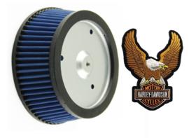 Luchtfilter Bleu Harley Davidson FLH (RC_RCS_LCi_E3_Screamin`Eagle enz)