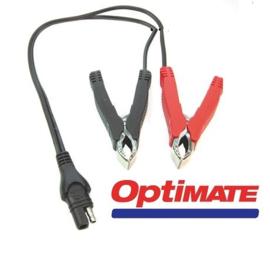 Accu laadsnoer krokodillenbek Tecmate Optimate  met kabel en stekker SAE O14