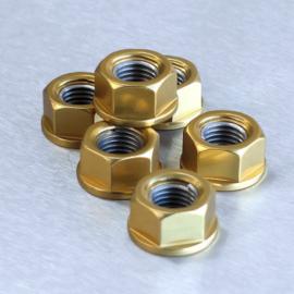 Tandwiel moeren (set 5st) M10x1.25 Gold ProBolt