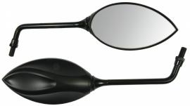 Spiegel design  universeel zwart (stuurspiegel)