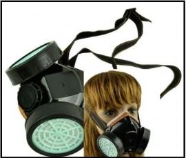 Spuitmasker met 2 carbonfilters